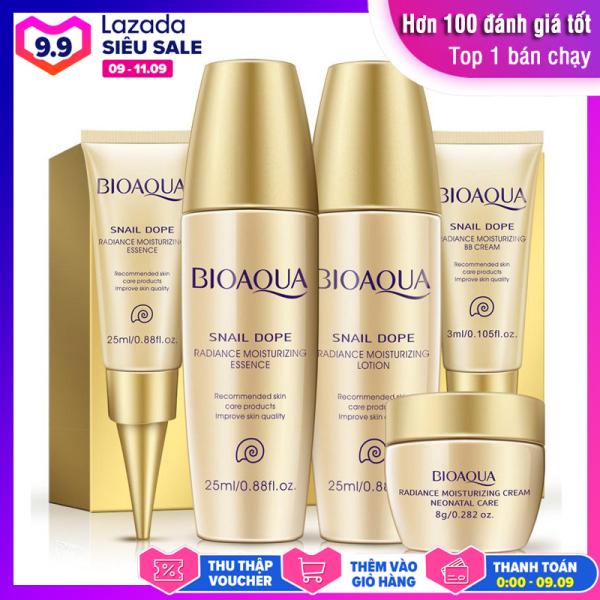 Bộ kit dưỡng ẩm và làm trắng da tinh chất ốc sên BIOAQUA bộ dưỡng da dùng thử bộ chăm sóc da mặt XP-BMP201