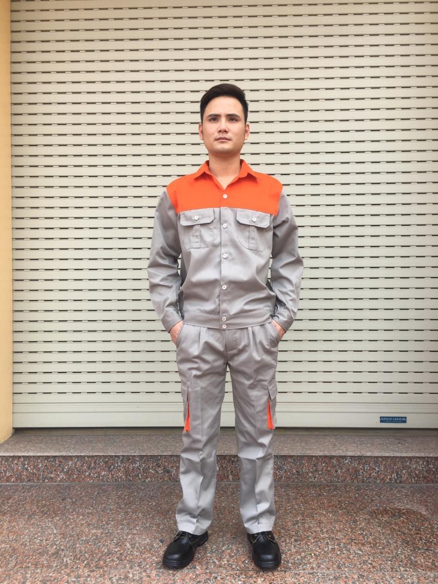 Quần áo bảo hộ lao động size 6,Bộ quần áo lao động chất đẹp không xù. bao ho lao dong