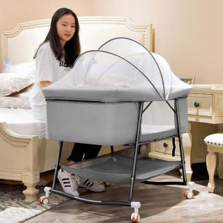 Nôi em bé-Giường ngủ cho trẻ em có màn-Cũi ngủ thư giãn em bé sơ sinh thumbnail