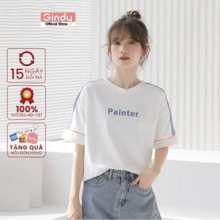 [ FULL SIZE + HÌNH THẬT ] Áo thun áo phông nữ form rộng GINDY PAINTER tay lỡ in chữ phong cách Unisex thời trang năng động A6171 thumbnail