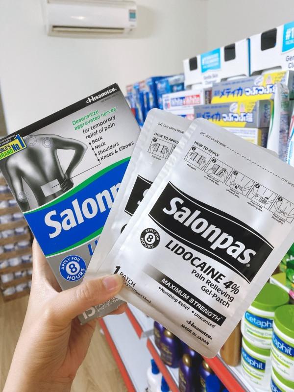 Salonpas Lidocaine 4% Dạng Gel 15 Miếng – Mỹ (06/2022)