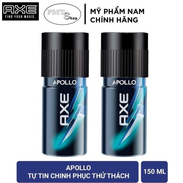 Combo 2 Xịt nước hoa toàn thân AXE APOLLO 150ml x 2 chai hương Tươi mát - khử mùi nam cao cấp