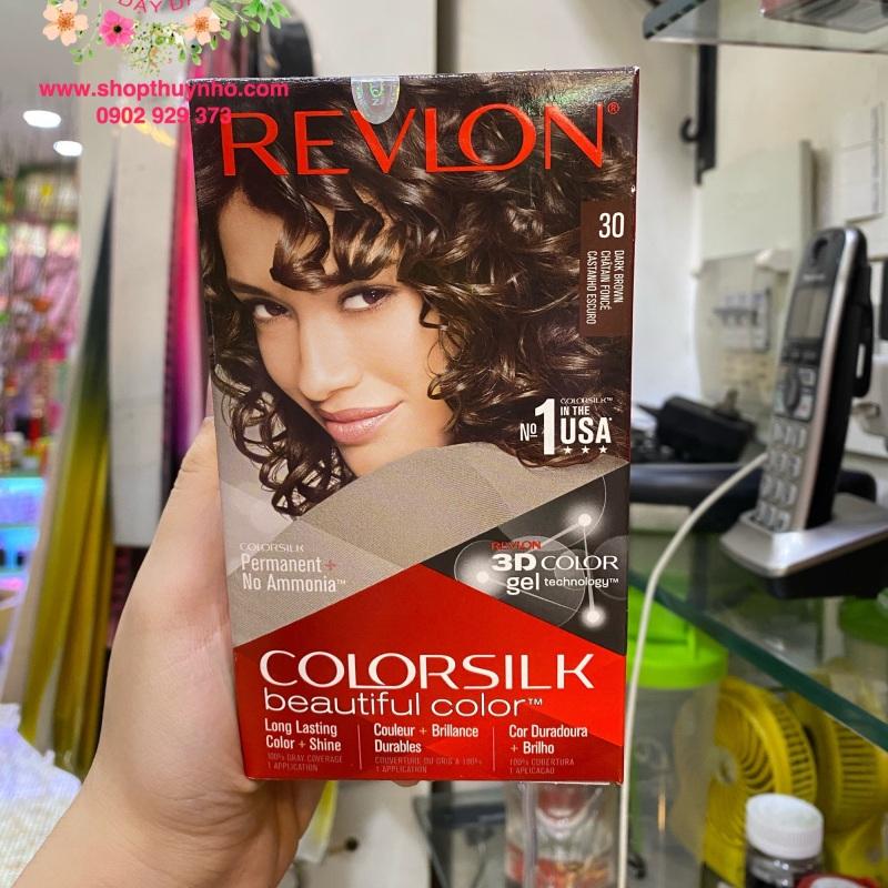 Thuốc nhuộm tóc Revlon ColorSilk số 30 - Nâu sẫm nhập khẩu