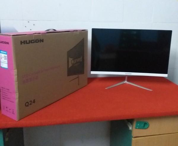 Bảng giá Màn hình cong Hugon 24 inch full viền, full HD, 75 Hz, IPS mới nguyên hộp xốp Phong Vũ