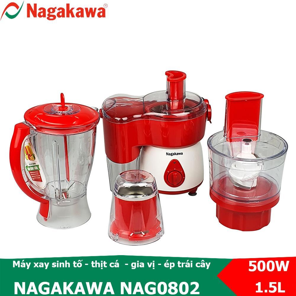 Mã Khuyến Mại Khi Mua Máy Xay Sinh Tố 4 Trong 1, Công Suất 500W Nagakawa NAG0802