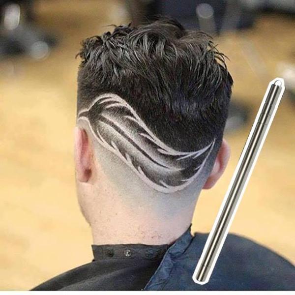 Bút tạo kiểu tóc đa năng. Hợp kim không gỉ, tặng 10 lưỡi dao và nhíp cao cấp - bút tattoo tóc tattoo tatto dao cạo dạng bút