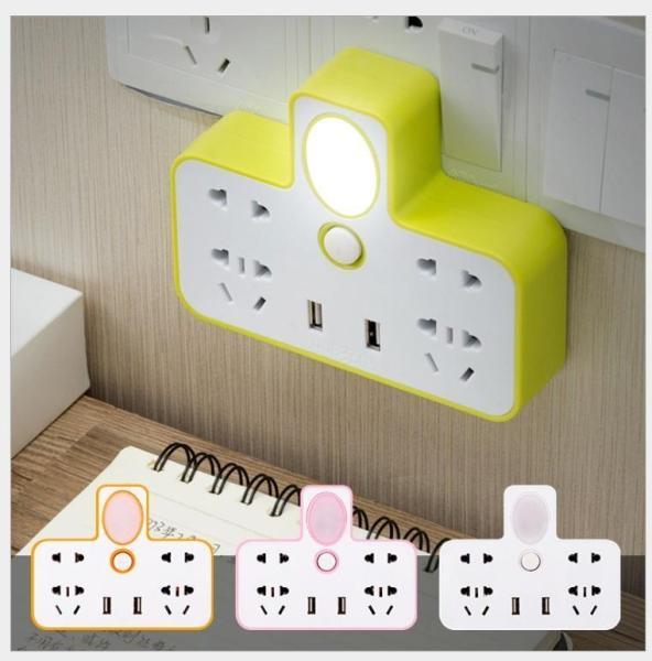 Ô Cắm Điện Hình Chữ T Tích Hợp Đèn Ngủ - Có Cổng USB Sạc Điện Thoại giá rẻ