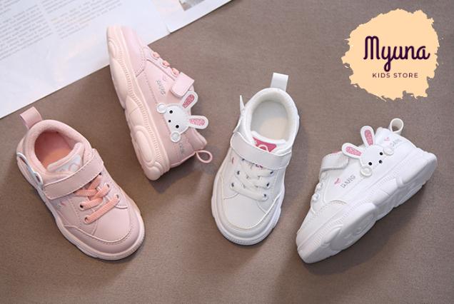 Giày Bata Bé Gái 2 Tuổi Đến 5 Tuổi Hình Thỏ, Giày Cho Bé Gái - Myuna Kids Store Mới Về Thêm giá rẻ