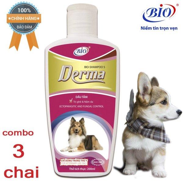 Combo 3 Chai Sữa tắm tiêu diệt ghẻ và nấm da demodex triệu chứng hôi lông với rụng lông- 79304