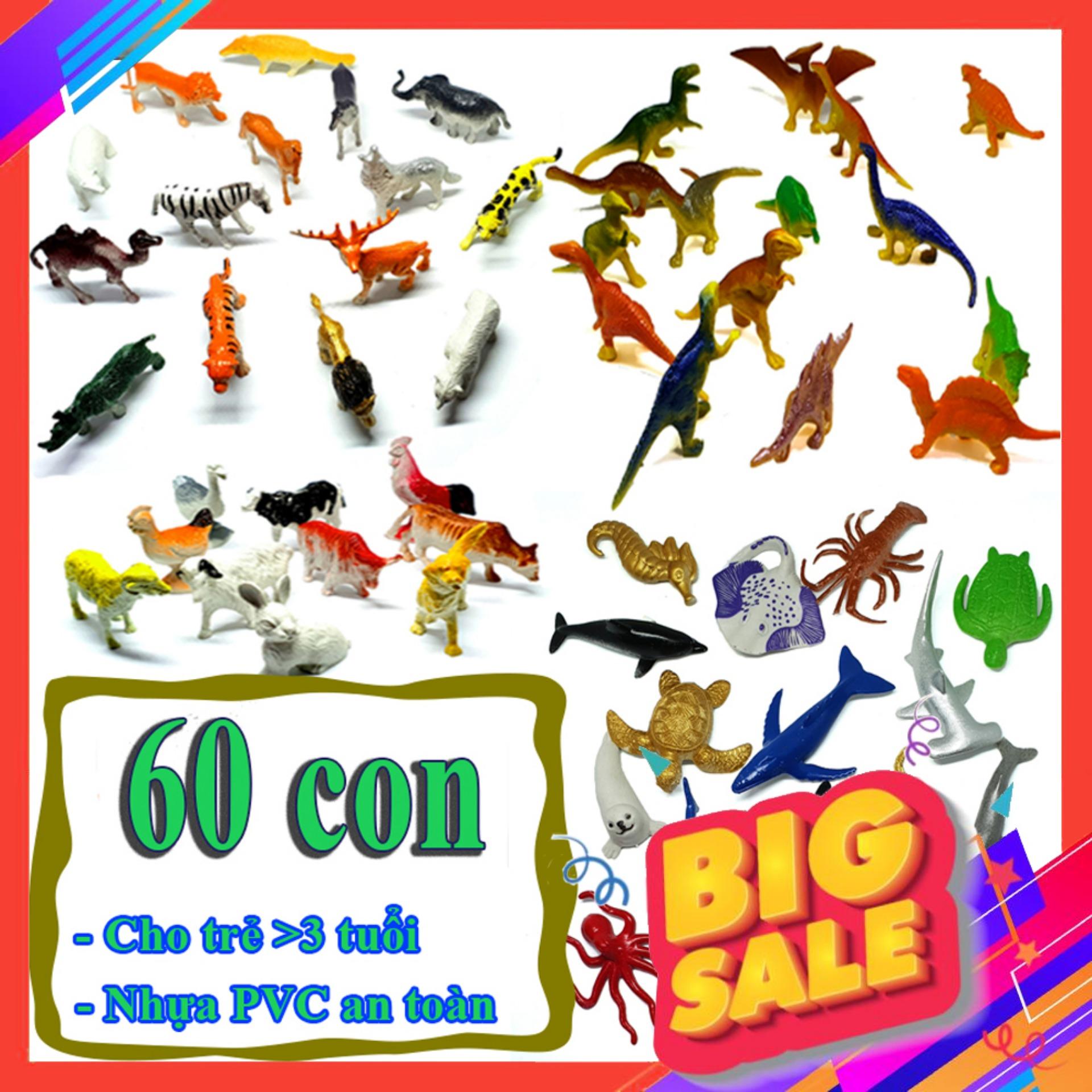 Mô Hình đồ Chơi 60 Chi Tiết Animal Dinosaur Sea World Nhựa PVC An Toàn - New4all Cùng Giá Khuyến Mãi Hot