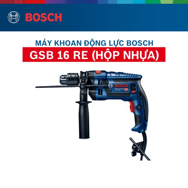 Máy khoan động lực Bosch GSB 16 RE (Hộp nhựa)