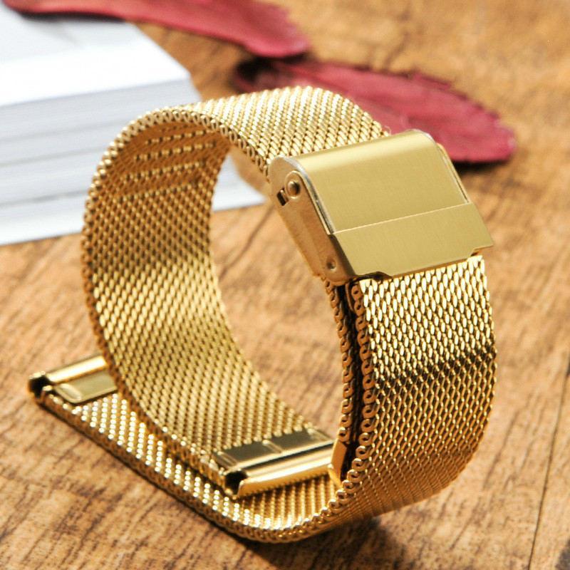 Nơi bán Dây đeo đồng hồ thép lưới (size 20mm) thép 316L không gỉ, không phai + Tặng chốt dây và thay dây
