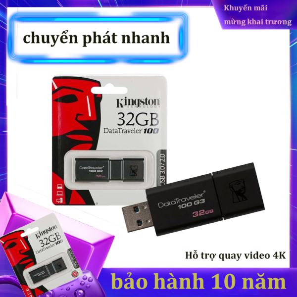 Bảng giá USB 3.0 Kingston DataTraveler 100 -32GB,-Bảo Hành 10 Năm-Hàng Chính Hãng Phong Vũ