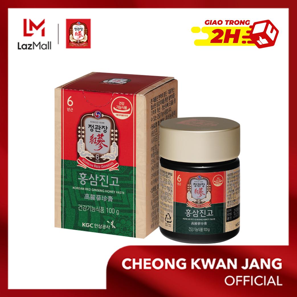 Tinh chất hồng sâm mật ong cô đặc KGC Cheong Kwan Jang hộp 100g - Tăng đề kháng, phục hồi năng lượng, cải thiện trí nhớ, bảo vệ gan