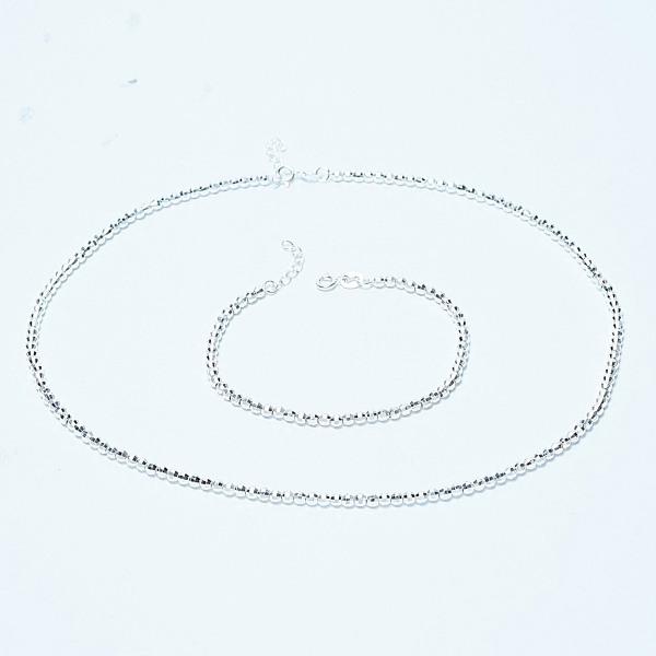 QMJ Dây chuyền bạc 925 cao cấp Bi trơn  thiết kế độc lạ, thích hợp với cô nàng thích sự độc và lạ trang sức thời trang nữ đẹp - QKL0902