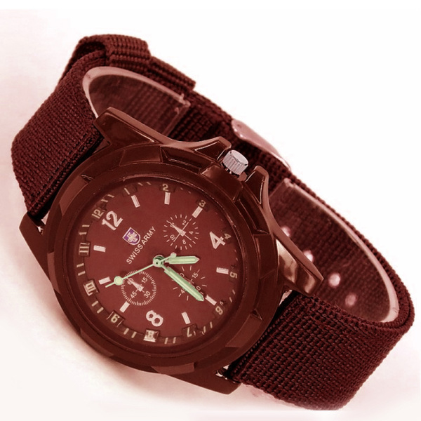 Đồng  hồ lính  dây  dù  đồng hồ quân  đội  Đồng hồ dây  vải  dù  kiểu  dáng  quân  đội ( đen)