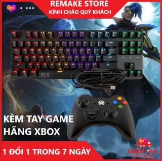 Bàn phím cơ gamming Gnet - k87 kèm tay game hãng xbox - Hiển thị full led - độ nhạy x2 - Bảo hành 3 năm 1 đổi 1 trong 7 ngày thumbnail