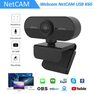 Webcam NetCAM USB K60 độ phân giải 1080P - Hãng phân phối chính thức thumbnail