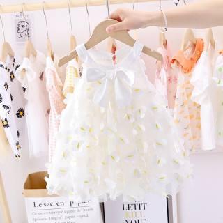 Váy đầm ren công chúa thắt nơ cho bé gái 6-15kg - Màu trắng - Váy bé gái, váy công chúa, đầm bé gái dễ thương, váy hè, váy dạ tiệc - Đầm công chúa, body váy, đầm cho bé gái - Shop Chen - Shubi