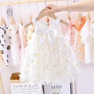 Váy đầm ren công chúa thắt nơ cho bé gái 6-15kg - Màu trắng - Váy bé gái, váy công chúa, đầm bé gái dễ thương, váy hè, váy dạ tiệc - Đầm công chúa, body váy, đầm cho bé gái - Shop Chen - Shubi thumbnail