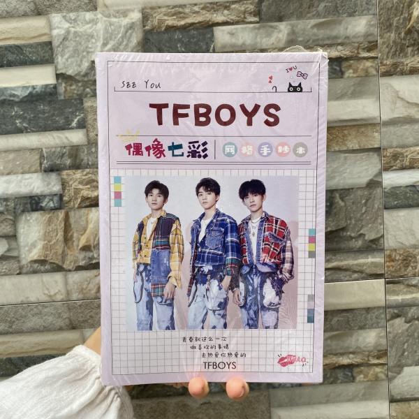 [Lấy mã giảm thêm 30%]Vở TFBoys vở tập viết in hìng idol Trung Quốc ảnh bìa in màu