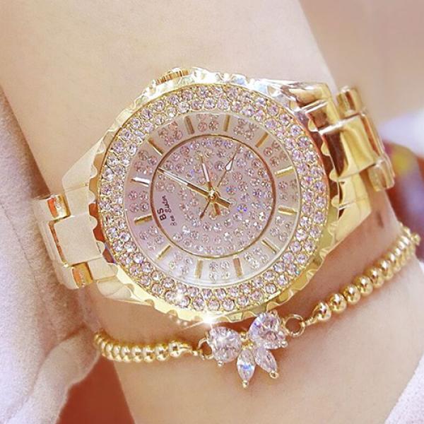 Đồng hồ nữ BS BEE SISTER Đính đá siêu đẹp + Tặng Hộp & Pin bán chạy