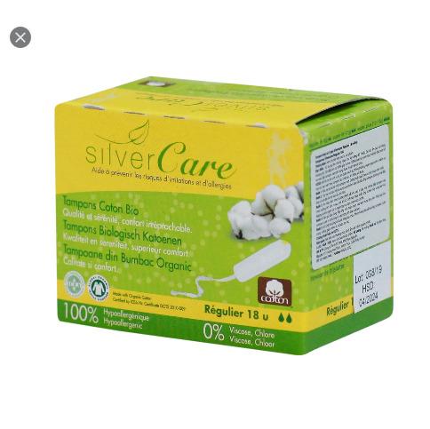 Tampon hữu cơ 2 giọt không cần đẩy Silvercare cao cấp