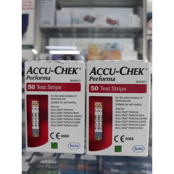 [CHÍNH HÃNG] Que thử đường huyết Accu-chek Performa (hộp 50 que) bán chạy