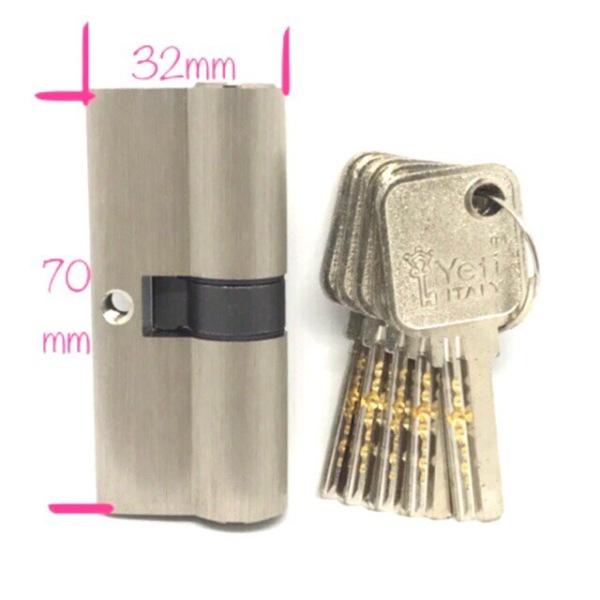 Ruột khoá cửa chính tay gạt Y eti chiều rộng 32mm chiều dài 70mm