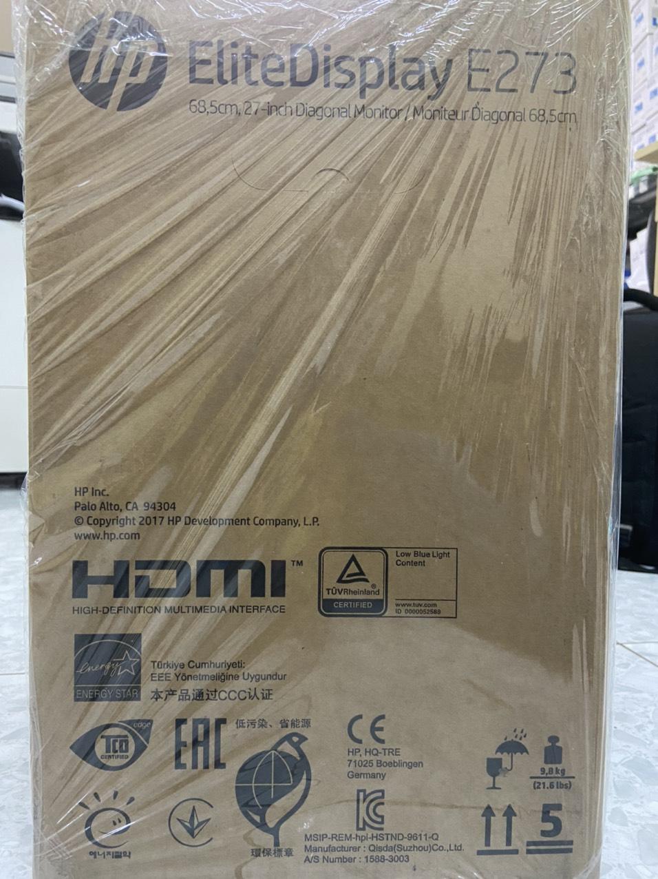 Màn hình HP EliteDisplay E273 27 inch (1FH50AA) - Hàng Chính Hãng