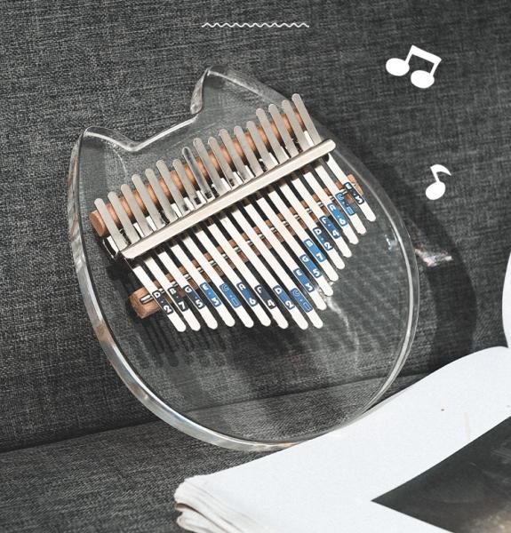 Đàn Kalimba Acrylic Pha Lê 17 Phím Chính Hãng Khủng Long Xanh Anca - Đầy Đủ Phụ Kiện