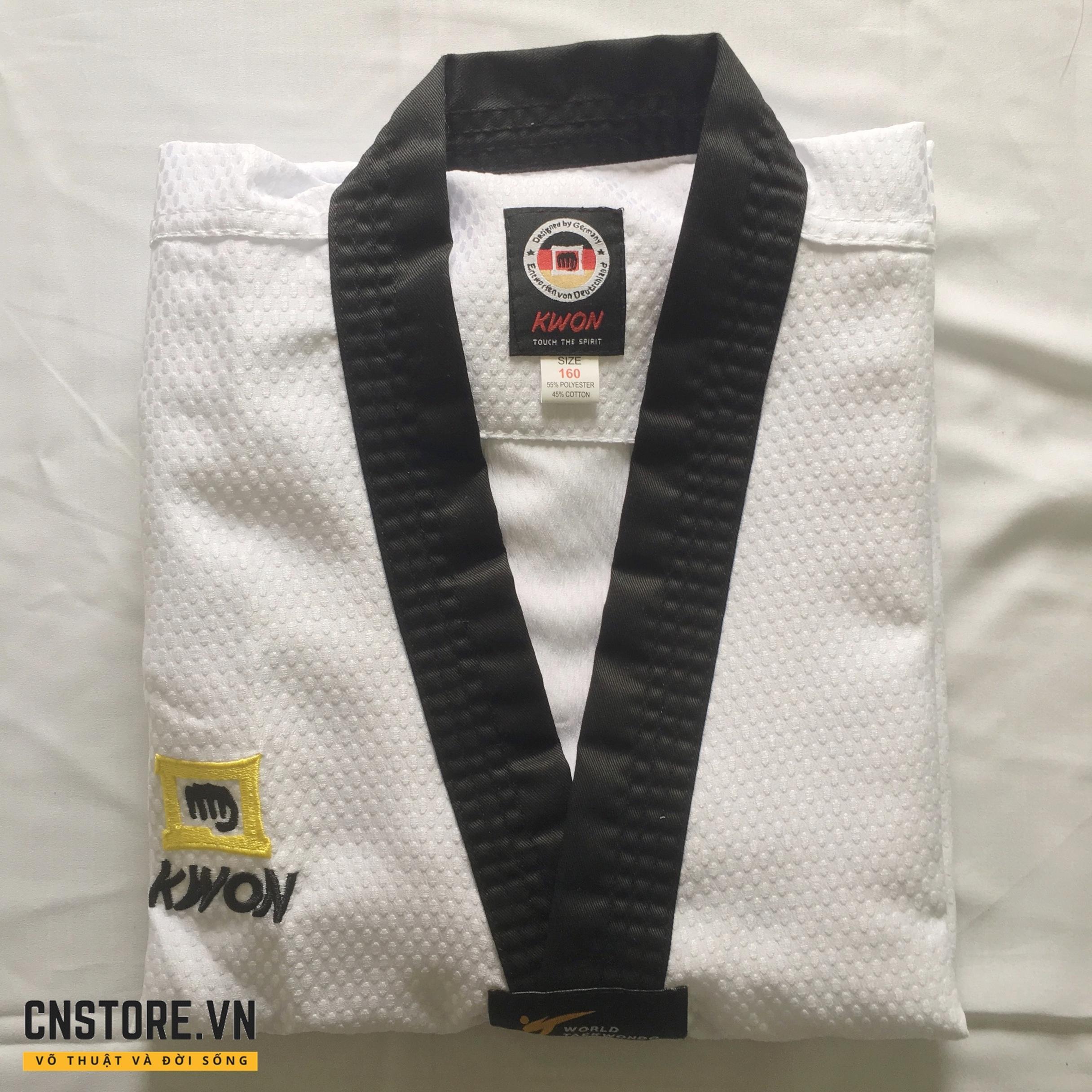 Mã Ưu Đãi Khi Mua Quần Áo Võ - Võ Phục Taekwondo Cổ Đen Kwon Vải Kim Cương
