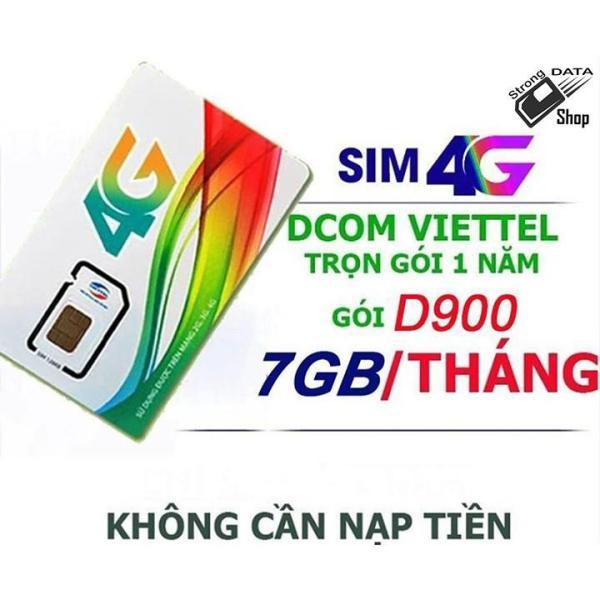 Bảng giá Sim4G Viettel D900 miễn phí 12 tháng sử dụng [ 7GB-THÁNG x 12 tháng ] Phong Vũ