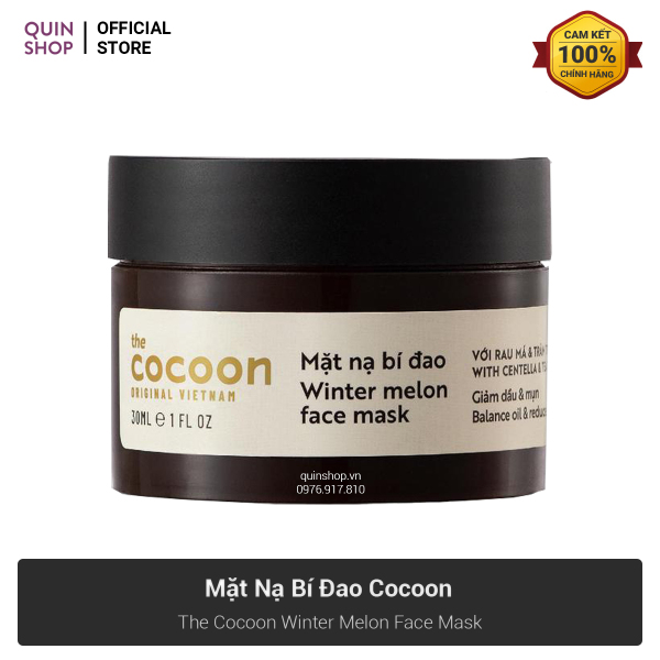 Mặt Nạ Bí Đao The Cocoon Winter Melon Face Mask