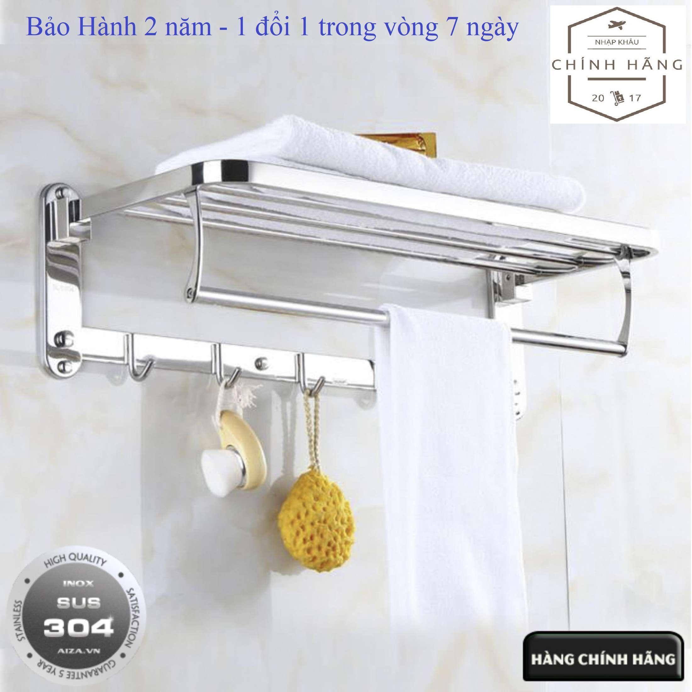 Kệ vắt khăn phòng tắm Gấp Đứng Inox SUS 304 Loại Dày - Nặng 1,2kg cao cấp Không Han Gỉ (Bảo hành 2 năm - 1 đổi 1 trong vòng 7 ngày) Nhật Bản