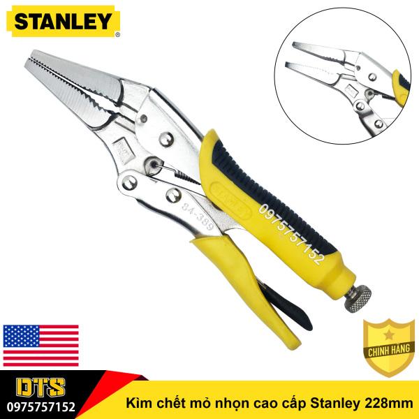 Kìm chết mỏ nhọn cao cấp Stanley 228mm, thép siêu cứng Cr-Mo chịu lực mạnh, tay cầm bọc nhựa cao su nguyên khối