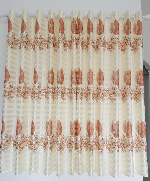 (Có video sản phẩm) Rèm cửa sổ, cửa phòng ngủ chống nắng 80% giá rẻ, hoạ tiết lá phong TNS-013