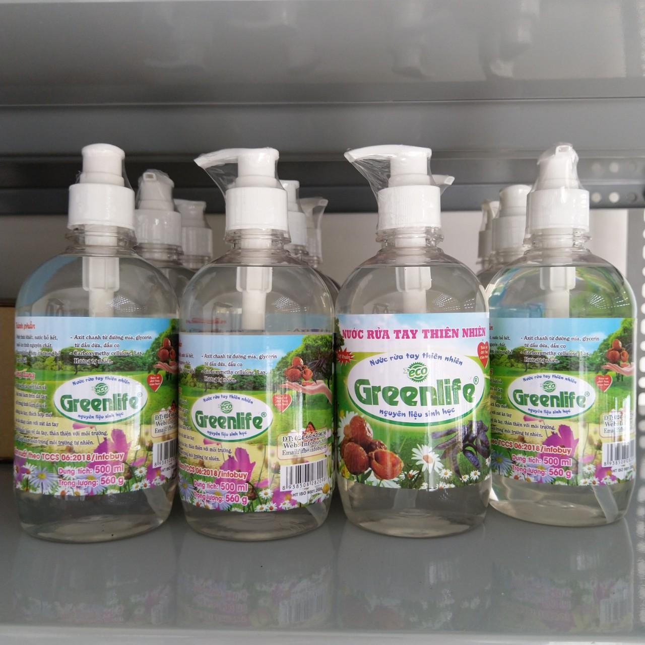 Nước rửa tay sinh học Greenlife an toàn, dịu nhẹ da tay.