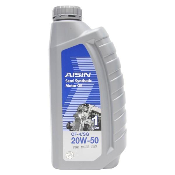 Nhớt động cơ AISIN ECSF2051P 20W-50 CF4 / SG Semi Synthetic 1L