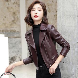 2020 Mùa Thu Mẫu Mới Haining Da Thật Áo Da Nữ Ngắn Phiên Bản Hàn Quốc Ôm Body Dê Con Áo Khoác Da Đầu Máy Thông Dụng Áo Khoác thumbnail