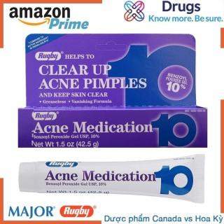 Kem Trị mụn Acne Medication 10 RUGBY- ACNE MEDICATION GEL BENZOYL PEROXIDE 10%, Dược Phẩm Hoa Kỳ, Hết mụn sau 7 ngày. thumbnail
