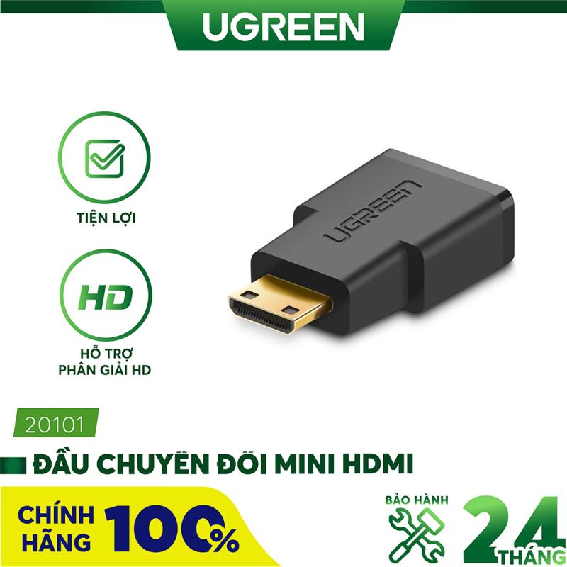 Bảng giá 2524628 Đầu chuyển Mini HDMI male sang HDMI female dài 25mm UGREEN 20101 - Hãng phân phối chính thức. Phong Vũ