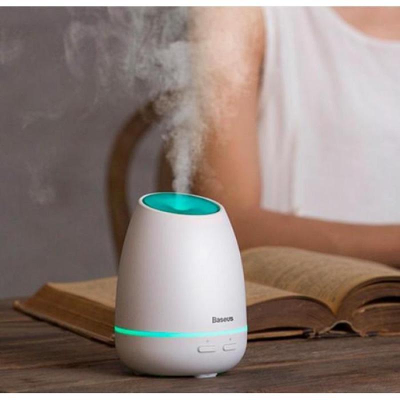Máy phun sương, tạo ẩm, khuếch tán tinh dầu Mini Baseus Creamy - White Aroma - Phân phối bởi Vietstore