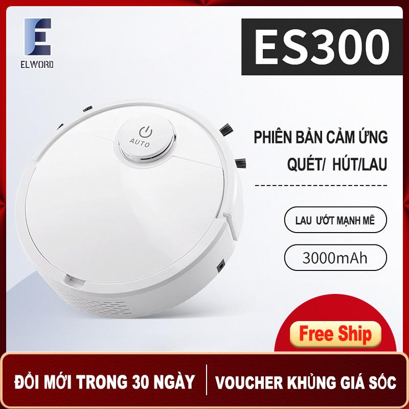 Máy Hút Bụi Robot ES300 [Bản nâng cấp ES28] thiết kế nút cảm ứng nhạy bén, lau dọn thông minh, pin bền lâu.