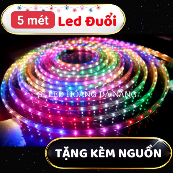 Bảng giá [5 mét] [10 mét] Dây đèn led nháy đuổi 2835- Tặng kèm nguồn, Dây đèn led đủ màu ,đèn led trang trí  led đuổi