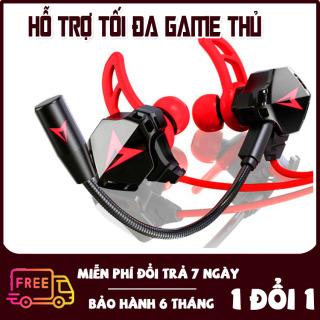 [Có Quà Tặng] Tai Nghe Chơi Game, Nghe Nhạc G6 Tai nghe gaming cho điện thoại (Màu Đỏ) [Micro Tách Rời, Xoay 360 độ] [Hỗ Trợ Game Pubg Mobile, Liên Quân,..] Tai nghe gaming giá rẻ, Tai nghe gaming cho pc thumbnail
