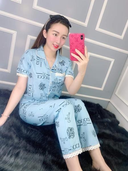 Đồ Bộ Pijama Tay Ngắn Quần Dài Vải Kate Lụa Mềm Mịn Phối VIỀN Siêu Xinh Dưới 57kg CAM KẾT GIAO ĐÚNG MẪU DIEUTHANHSTORE