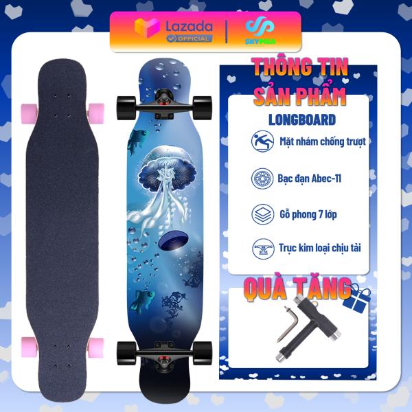 Giá bán Ván Trượt Thể Thao Sport & Dancing Longboard Skating 107 cm - Ván Trượt Có Nhám Chống Trượt, Ván Trượt Gỗ Chống Nước Cực Tốt Chịu Lực Tốt, Ván trượt Nữ - Nhật Vượng 8688