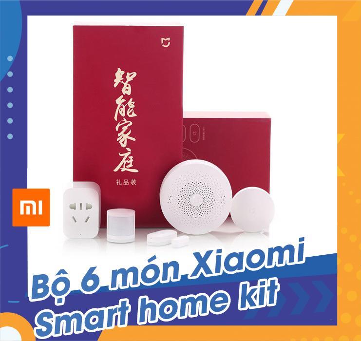 Bộ 6 món Xiaomi smart home kit, came biến cửa, hồng ngoại, công tắc, ổ điện thông minh, bộ điều khiển trung tâm.