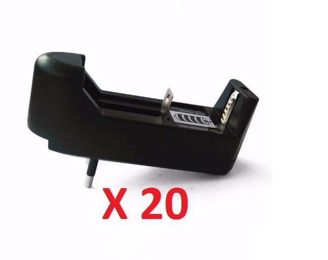 Combo 20 Dock sạc pin 18650 đơn cho - đèn pin - quạt sạc